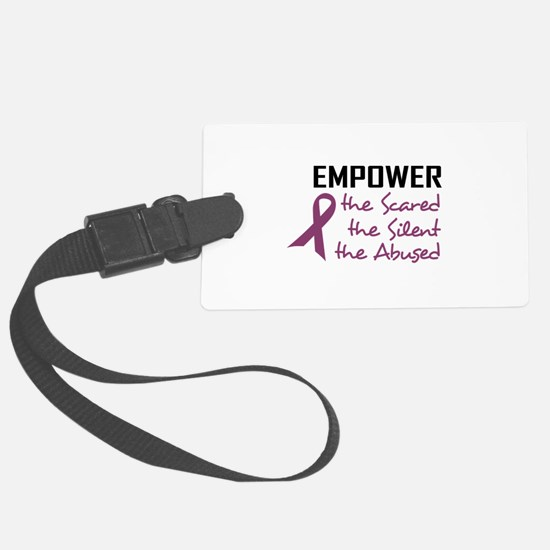 EMPOWER THE ABUSED Luggage Tag