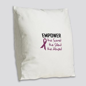 EMPOWER THE ABUSED Burlap Throw Pillow