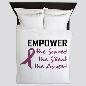 EMPOWER THE ABUSED Queen Duvet