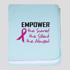 EMPOWER THE ABUSED baby blanket