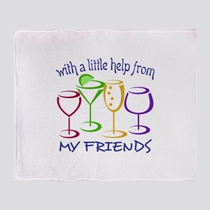 With A Little Help From My Friends Throw Blanket