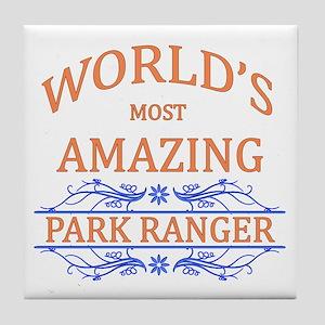 Park Ranger Tile Coaster