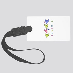 BE HAPPY Luggage Tag