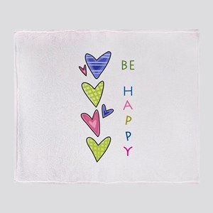 BE HAPPY Throw Blanket