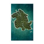 Lost Map 35x21 Wall Decal