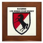 11TH ARMORED CAVALRY REGIMENT Framed Tile