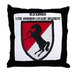 11TH ARMORED CAVALRY REGIMENT Throw Pillow