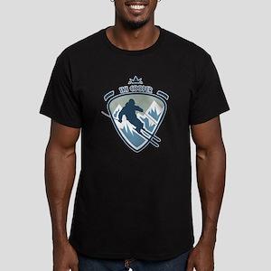 Ski Cooper Men's Fitted T-Shirt (dark)