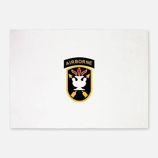 JFK Special Warfare Center.psd.png 5'x7'Area Rug