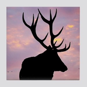Stag And Sunset Tile Coaster