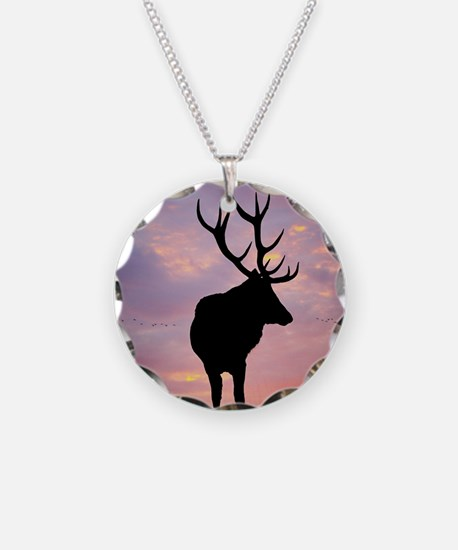 Stag And Sunset Necklace