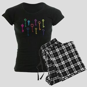 Skeleton Keys Women's Dark Pajamas