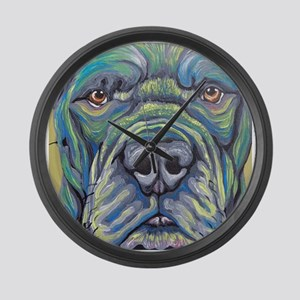 Cane Corso Rainbow Dog Large Wall Clock