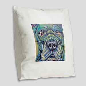 Cane Corso Rainbow Dog Burlap Throw Pillow
