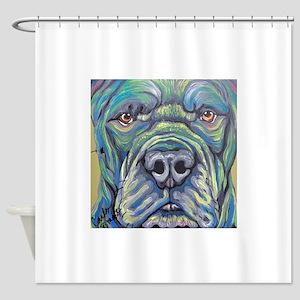 Cane Corso Rainbow Dog Shower Curtain