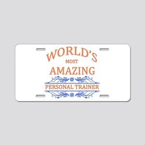 Personal Trainer Aluminum License Plate