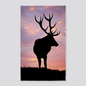 Stag And Sunset Area Rug