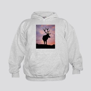Stag And Sunset Kids Hoodie