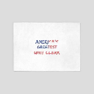 America's Greatest Unit Clerk 5'x7'Area Rug