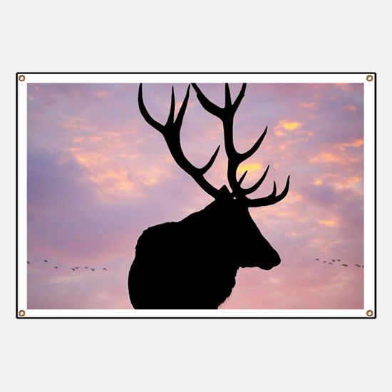 Stag And Sunset Banner
