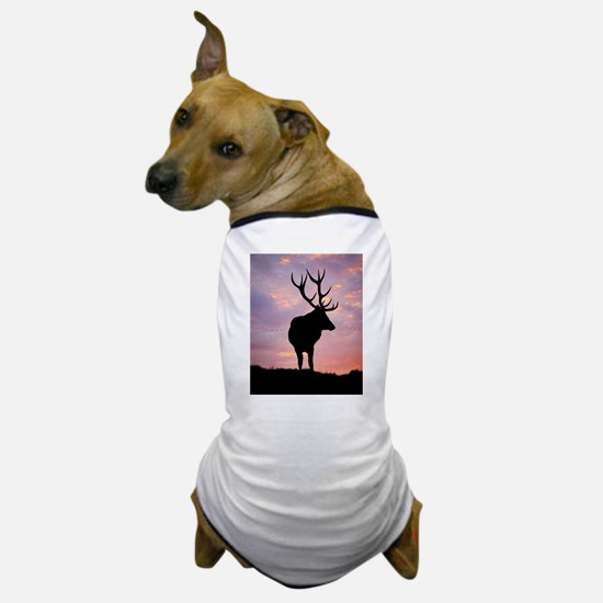 Stag And Sunset Dog T-Shirt