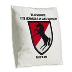 11TH ARMORED CAVALRY REGIMENT Burlap Throw Pillow