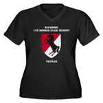 11TH ARMORED Women's Plus Size V-Neck Dark T-Shirt