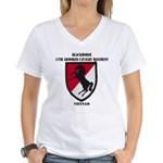 11TH ARMORED CAVALRY REGIME Women's V-Neck T-Shirt