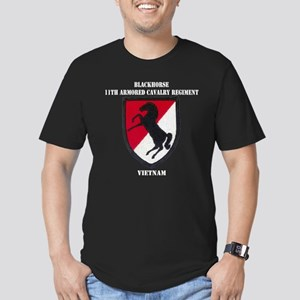 11TH ARMORED CAVALRY R Men's Fitted T-Shirt (dark)