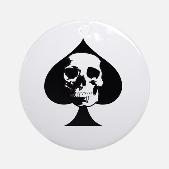 ACE OF SPADES SKULL Ornament (Round)