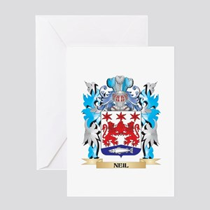 Neil Coat of Arms - Family Crest Greeting Cards