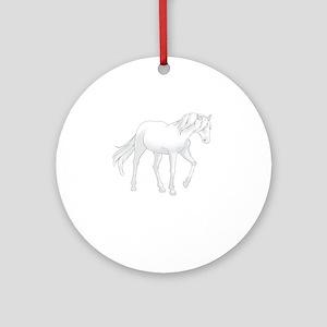 SMALL HORSE Ornament (Round)