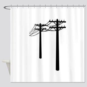 Utility Lines Shower Curtain