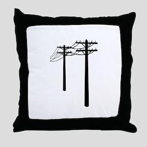 Utility Lines Throw Pillow