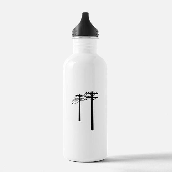 Utility Lines Water Bottle
