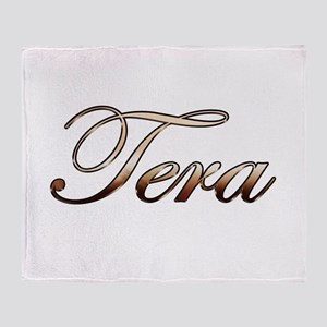 Gold Tera Throw Blanket