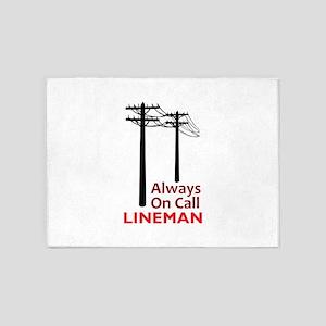Always On Call Lineman 5'x7'Area Rug