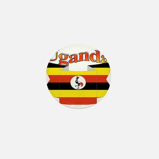 Ugandan ribbon Mini Button