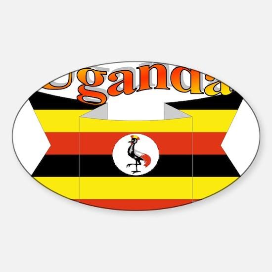 Ugandan ribbon Sticker (Oval)