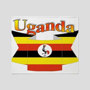 Ugandan ribbon Throw Blanket