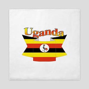 Ugandan ribbon Queen Duvet