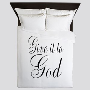 Give it to God Queen Duvet