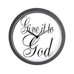 Give it to God Wall Clock