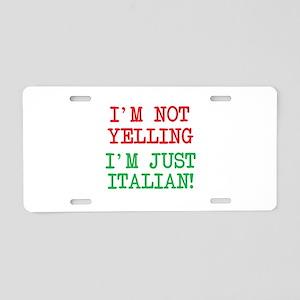 I'm Italian Aluminum License Plate