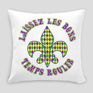 French Mardi Gras Everyday Pillow
