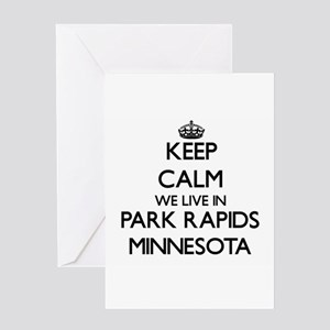 Keep calm we live in Park Rapids Mi Greeting Cards