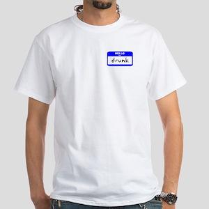 Hello I'm Drunk - Men's White T-Shirt