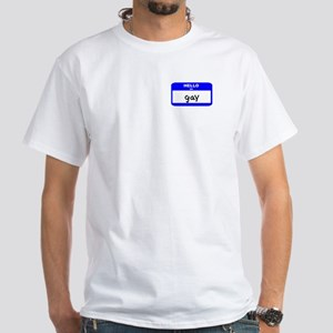Hello I'm Gay - Men's White T-Shirt