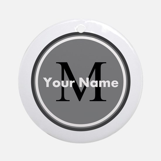 Custom Initial And Name Ornament (Round)