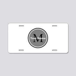 Custom Initial And Name Aluminum License Plate